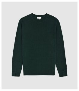 Reiss Jinks - Wool Cashmere Blend Crew Neck Jumper in Green, Mens, Size XXL