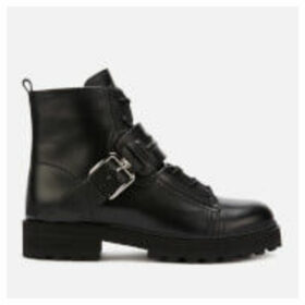 Tod's Women's Cross Strap Hiking Ankle Boots - Black