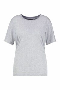Womens Plus Basic Cap Sleeve T-Shirt - grey - 26, Grey