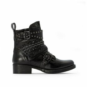 Norton Leather Buckled Boots