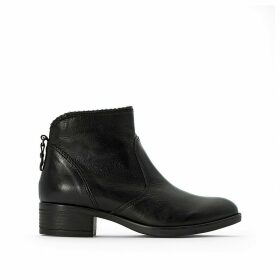 Marilu Leather Ankle Boots with Block Heel