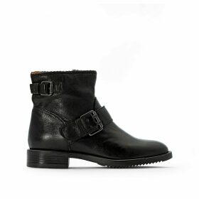 Zarko-Zorba Leather Ankle Boots with Buckle