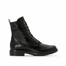 Cafe Leather Ankle Boots
