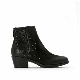 Dallas Leather Ankle Boots with Studs