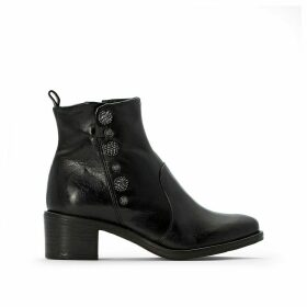 Flyn Leather Heeled Boots