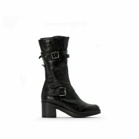 Bounty Leather Buckled Boots