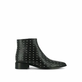 Defense Leather Ankle Boots