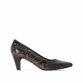 Wide Fit Snake Print Heels