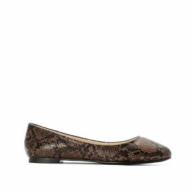 Wide Fit Snake Print Ballet Pumps