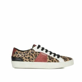 Warley Suede Trainers with Leopard Print