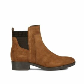 Felicity Suede Ankle Boots with Block Heel