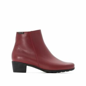 Ilsa Leather Ankle Boots with Block Heel