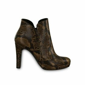 Lycoris Snakeskin Effect Boots with High Heels