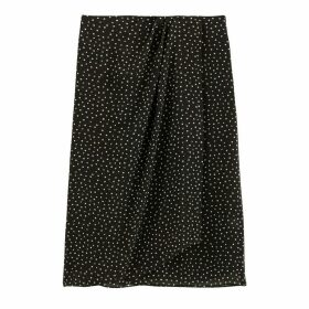 Draped Polka Dot Skirt