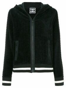 Chanel Pre-Owned sports-line hooded sweatshirt - Black