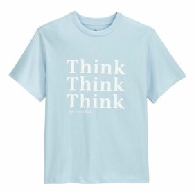Cotton Think Print T-Shirt with Short Sleeves