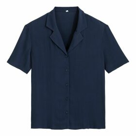 Tailored-Collar Short-Sleeved Shirt