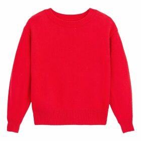 Boat Neck Jumper with Puff Sleeves