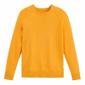 Fine Cotton Mix Jumper with Crew-Neck