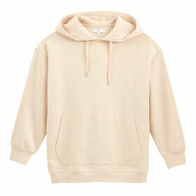 Plain Cotton Boyfriend Hoodie with Pocket