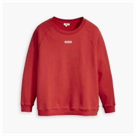 Logo Cotton Sweatshirt with Crew Neck