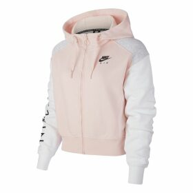 Air Hoodie Cotton Mix Track Top with High-Neck