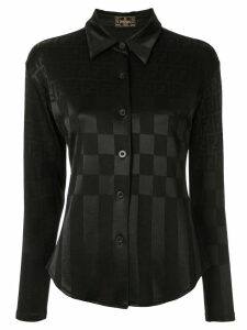 Fendi Pre-Owned FF pattern check shirt - Black