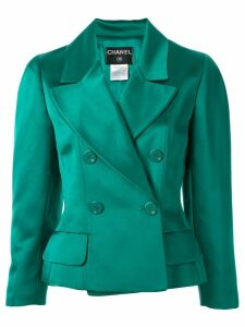 Chanel Pre-Owned double breasted blazer - Green