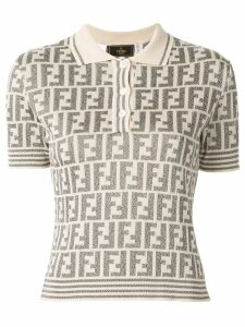 Fendi Pre-Owned FF pattern polo top - Neutrals