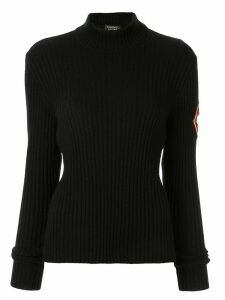 Chanel Pre-Owned ribbed mock neck jumper - Black