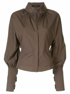Gucci Pre-Owned high collar blouse - Brown