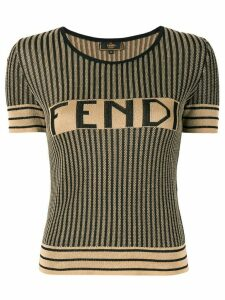 Fendi Pre-Owned Pequin pattern knitted top - Brown