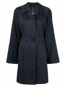 Burberry Pre-Owned belted trench coat - Blue