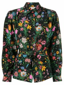 Gucci Pre-Owned floral belted shirt - Multicolour