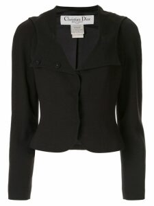 Christian Dior Pre-Owned cropped sailor jacket - Black