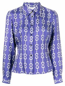 Céline Pre-Owned horsebit print shirt - Purple