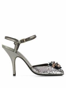 Prada Pre-Owned 2000's sequin embellished sandals - Grey