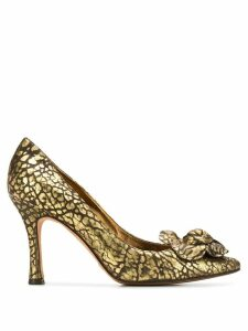 Dolce & Gabbana Pre-Owned 2000's leopard effect pumps - Gold