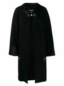 Chanel Pre-Owned buttoned collared midi coat - Black