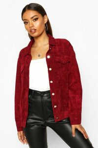 Womens Oversize Cord Jacket - red - 6, Red