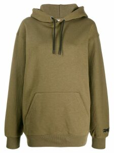Reebok x Victoria Beckham embroidered collaboration logo hoodie -