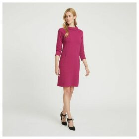 Cranberry Textured Bardot Dress