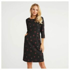 Multi Spot Ponte Shift Dress