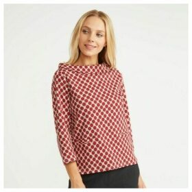 Bardot Neck Spotted Top