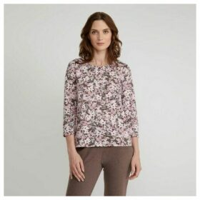 Floral Print Henley Top
