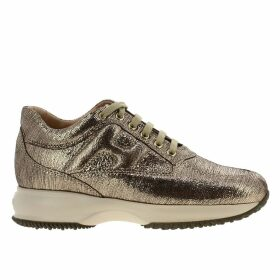 Hogan Sneakers Hogan Sneakers In Laminated Leather With Rounded H