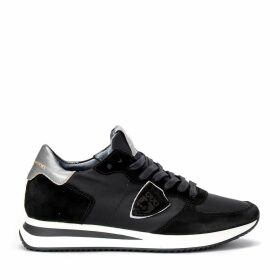 Philippe Model Tropez X Sneaker In Suede And Black Fabric