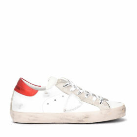 Philippe Model Paris Sneaker Made Of White And Red Leather