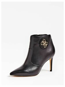 Guess Byrne Leather Logo Ankle Boot