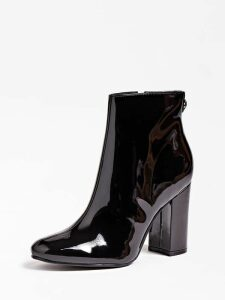 Guess Lannaha Patent Logo Ankle Boot